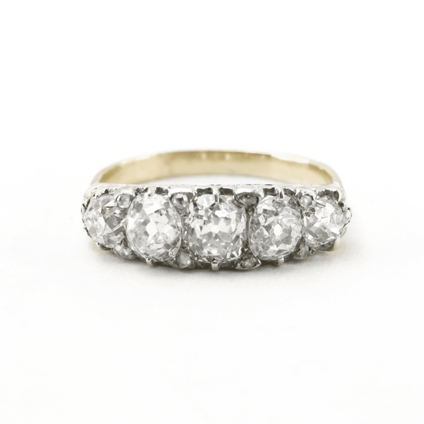 Art Deco Yellow Gold Five Stone Diamond Ring - Friar House