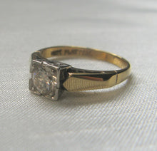 Art Deco Diamond Solitaire Engagement Ring .40 Carat