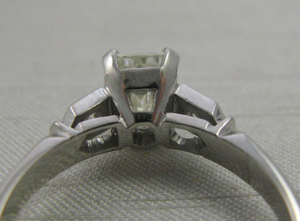 Art Deco Emerald cut  Diamond Solitaire Engagement Ring 1 Carat