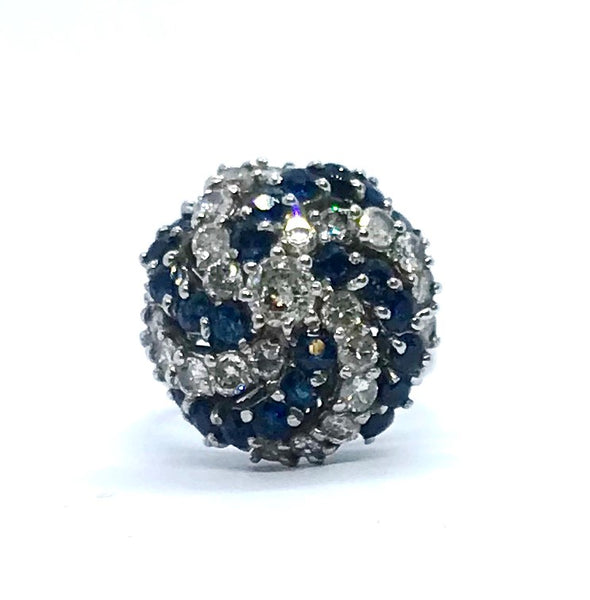 Vintage Sapphire and Diamond Cocktail Ring.