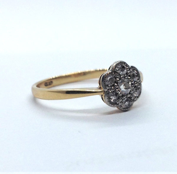 Diamond Daisy Cluster Ring