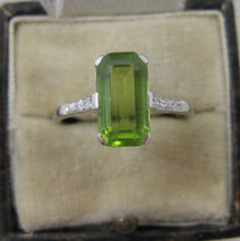 Peridot & Diamond Ring