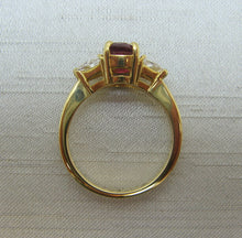Contemporary Ruby and Diamond Ring.