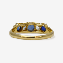 Sapphire and Diamond five stone ring - Friar House