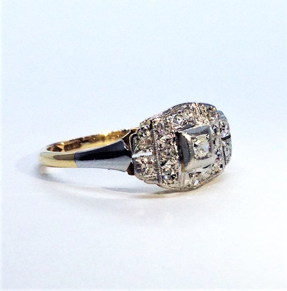 Art Deco Diamond Panel Ring