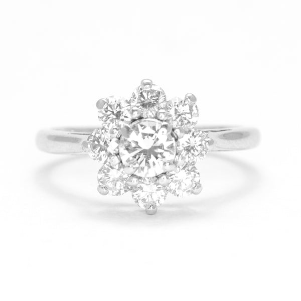 Vintage 1 carat Diamond Cluster Ring