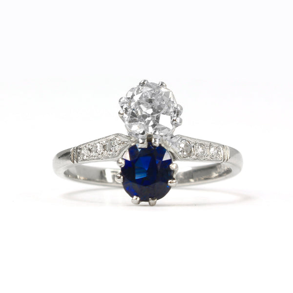 'Toi et Moi' style Sapphire and Diamond Ring - Friar House