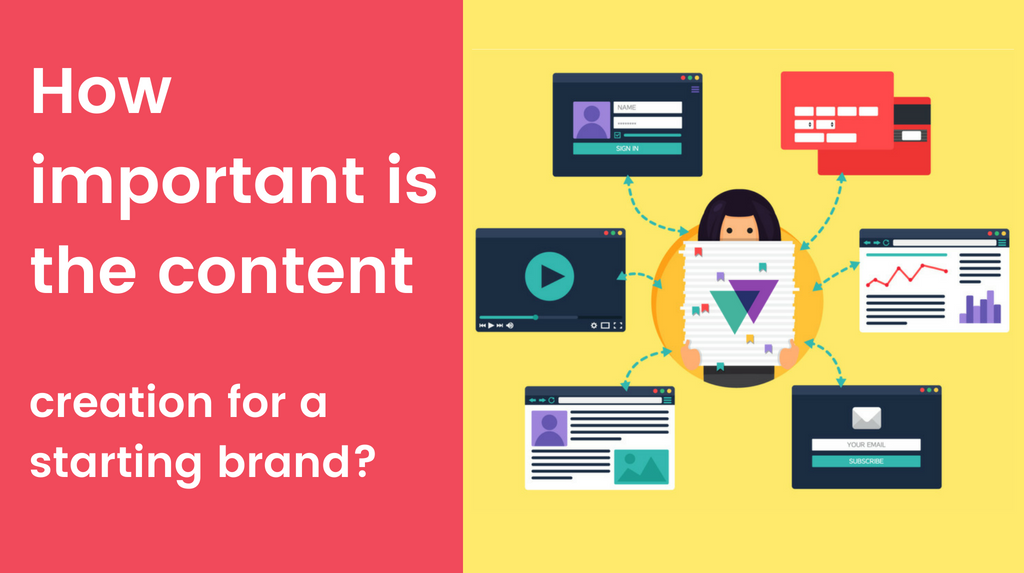 How important is the content creation for a starting brand?