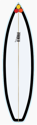 Custom Black and White 5' 10""
