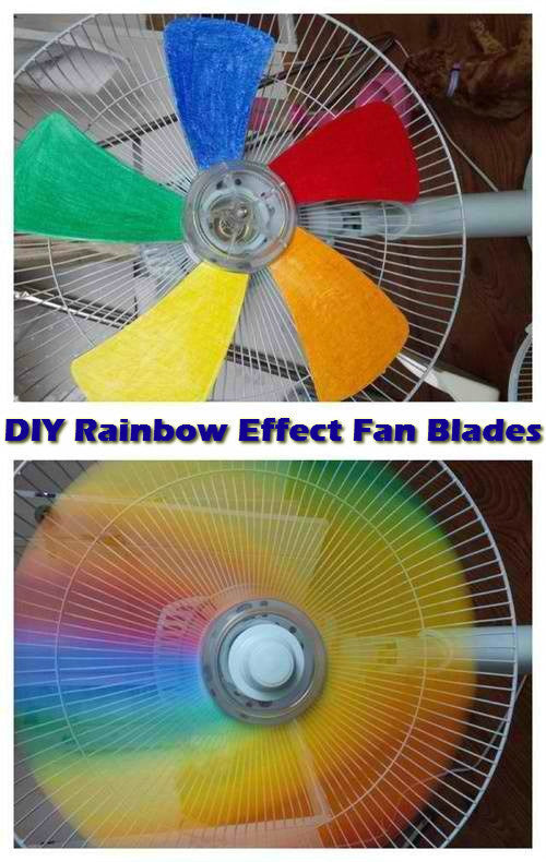 Turn A Regular Fan Into An Amazing Rainbow One