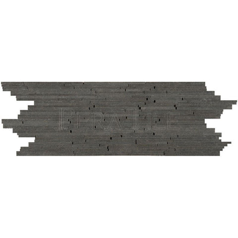 "3 3/4""X11 3/4"" Stick Border In Gray Basalt - Honed"