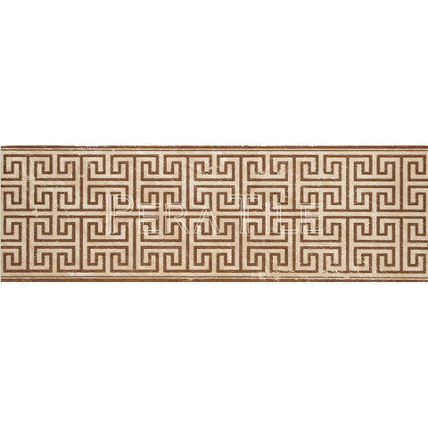 "Engraved Designer Border : 6""X18""X1/2"" [W] - Light Travertine[Coffee] - Honed And Filled"