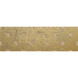 "Engraved Designer Border : 4""X12"" [W] - Light Travertine[Gold] - Honed And Filled"