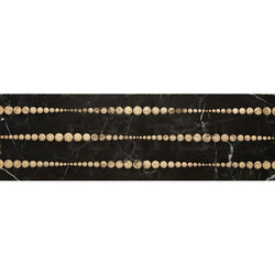 "Engraved Designer Border  : 4""X12"" [W] - Nero Marquina [Gold] - Polished"
