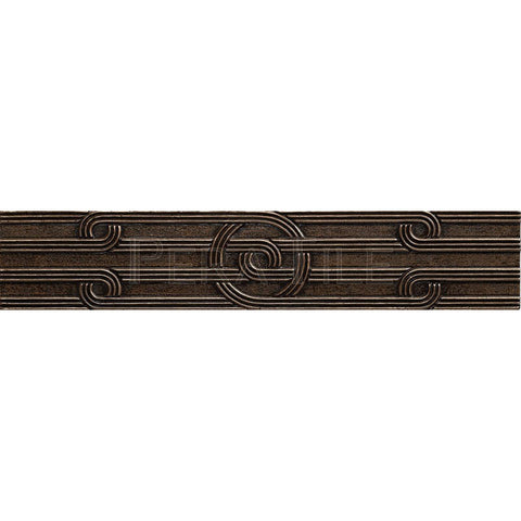 "Metal Decors: 2 1/4""X12""  Border - Bronze"