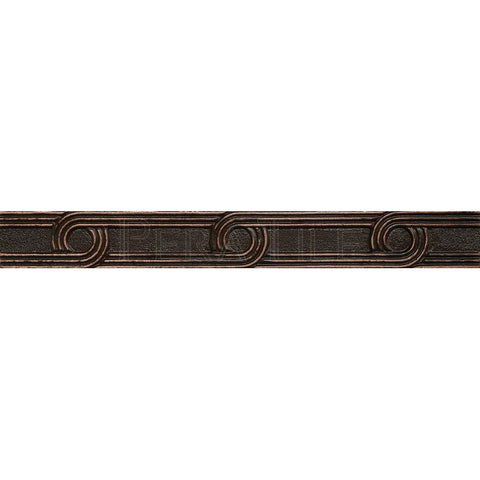 "Metal Decors: 1""X8""  Liner - Antique Bronze"