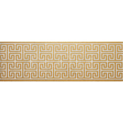 "Engraved Designer Border : 6""X18""X1/2"" [W] - Bianco Venatino [Gold] - Polished"