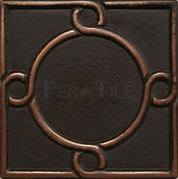 "Metal Decors: 4""X4"" Insert - Antique Bronze"