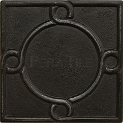 "Metal Decors: 4""X4"" Insert - Wrought Iron"