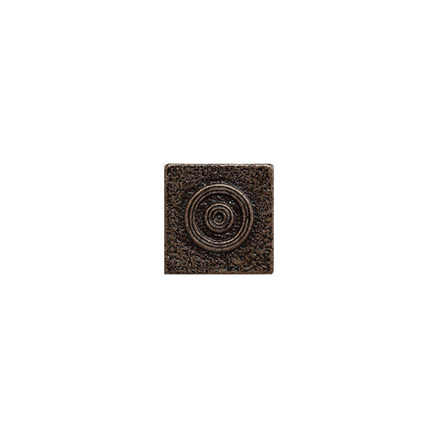"Metal Decors: 1""X1""  Insert - Bronze"
