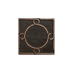 "Metal Decors: 2""X2"" Insert - Antique Bronze"