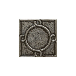 "Metal Decors: 2""X2"" Insert - Pewter"