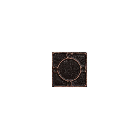 "Metal Decors: 1""X1"" Insert - Antique Bronze"