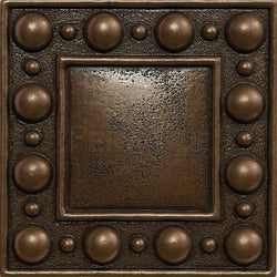 "Metal Decors: 4""X4"" Insert - Bronze"