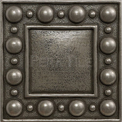 "Metal Decors: 4""X4"" Insert - Pewter"