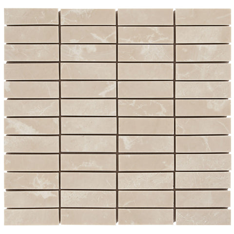 "Turkish Marfil 1""X3"" Bar Mosaic - Polished"
