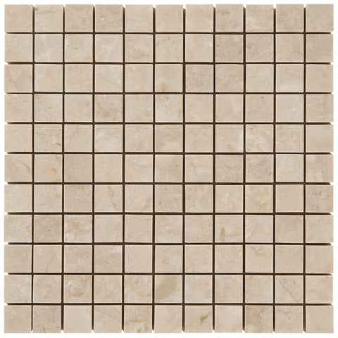 "Turkish Marfil 1""X1"" Mosaic - Polished"