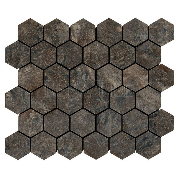 "Emgoni Marble 2"" Hexagon Mosaic - Polished (0.9 Sqft/Sh)"