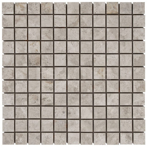 "Silver Shadow 1""X1"" Mosaic - Polished"