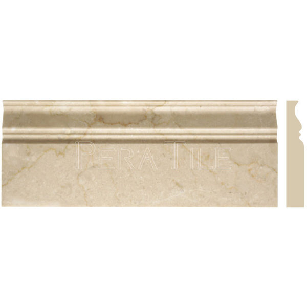 "Turkish Marfil 4 3/4""X12"" Classic Baseboard - Polished"