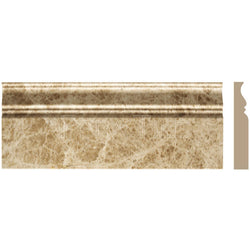 "Light Emperador  4 3/4""X12"" Classic Baseboard - Honed"
