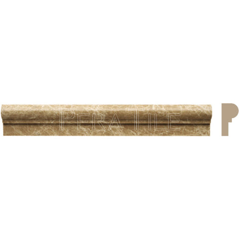 "Light Emperador  2""X12"" Single Ogee - Honed"