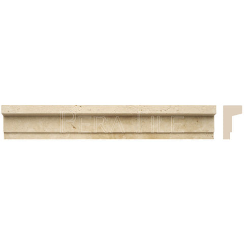 "Light Travertine 2""X12"" Modern Chair Rail - Honed"