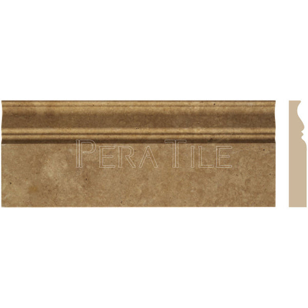 "Noce Trv 4 3/4""X12"" Classic Baseboard - Honed"