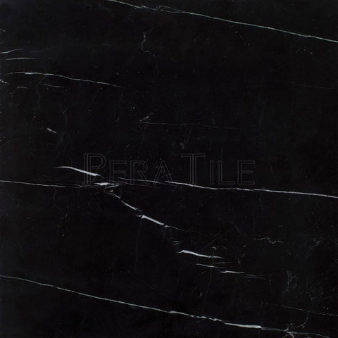 "18""X18""X1/2"" Nero Marquina Tile - Polished"