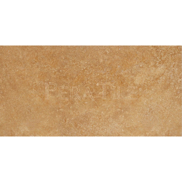 "12""X24""X1/2"" Gold Travertine Tile - Honed Filled"