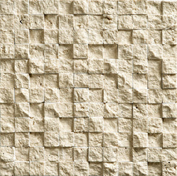 "1""X1"" Mosaic In Light Travertine- Split Face"