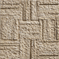 "3/8""X4"" Mosaic In Noce Travertine - Split Face"