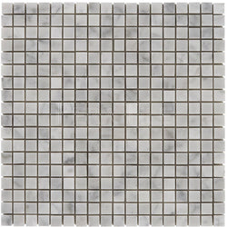 "Bianco Carrara 5/8""X5/8"" Mosaic - Honed"