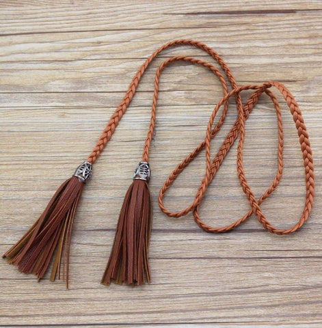 Brown tassel Belts