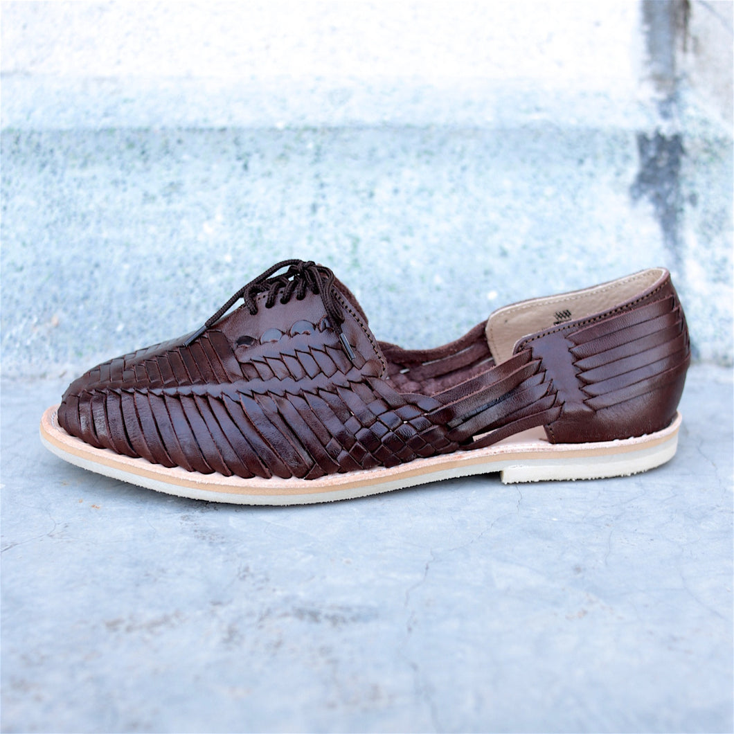 BETA HUARACHE FOR MEN IN CHOCOLATE LEATHER