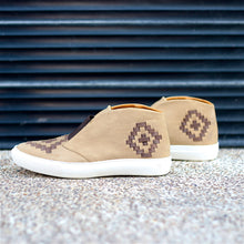 MALIN HIGHTOP FOR WOMEN IN CAMEL WITH BROWN WEAVE
