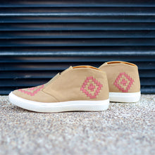 MALIN HIGHTOP FOR WOMEN IN TAUPE WITH ORANGE WEAVE
