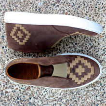 MALIN HIGHTOP FOR MEN IN BROWN WITH NATURAL WEAVE