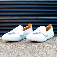 COMA SLIP-ON HUARACHE SNEAKER FOR WOMEN IN WHITE LEATHER WEAVE