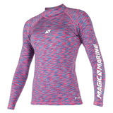 Magic Marine Cube Rashvest L/S Women (Blue/Pink)